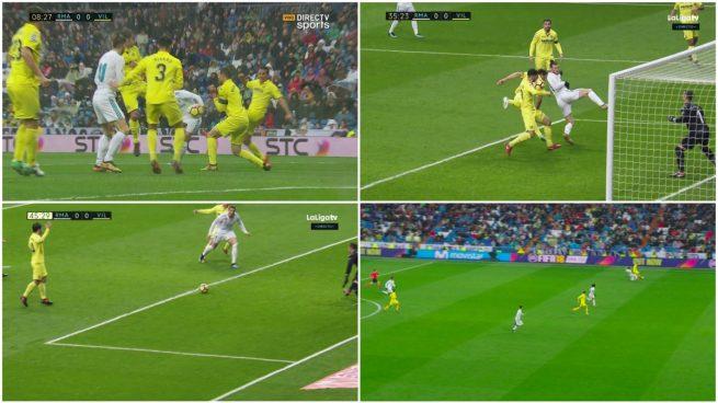 Todas las polémicas: el Real Madrid pidió dos penaltis, gol anulado a Bale y posición muy justa de Unal en el gol del Villarreal