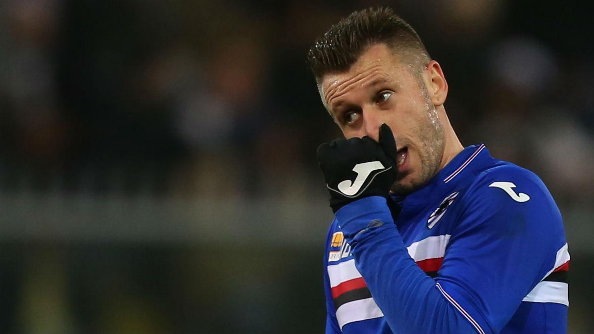 Cassano durante un partido con la Sampdoria. (AFP)