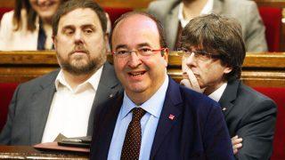 Oriol Junqueras, Miquel Iceta y Carles Puigdemont.