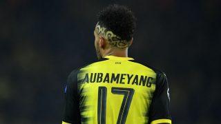 Aubameyang durante un partido con el Dortmund (Getty)