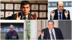 Emilio García Silvero (en la imagen arriba a la izquierda) encabeza la candidatura de Tebas a la RFEF.