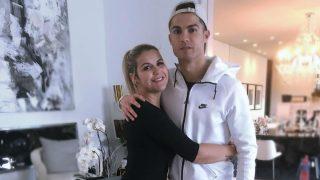 Katia Aveiro y Cristiano Ronaldo juntos.