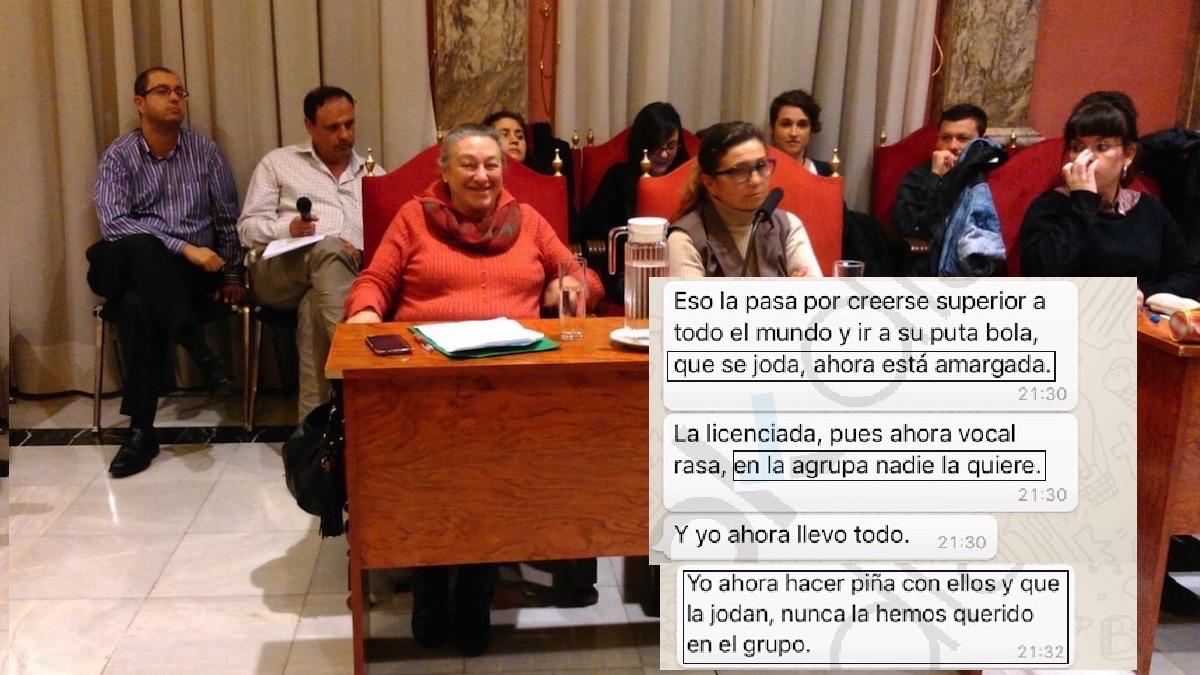 El PSOE en la Junta Municipal de Puente de Vallecas.