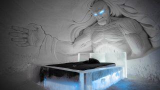 Dormir bajo un caminante blanco es posible. Laplands Hotels