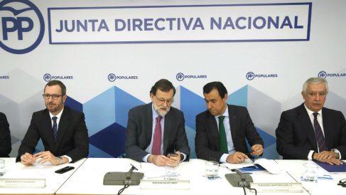 Rajoy, en la Junta Directiva Nacional del PP, este lunes.
