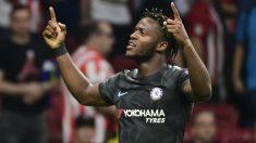 Batshuayi celebra su gol al Atlético en Champions. (AFP)