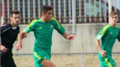 Fran Rivera durante un partido con el Cádiz. (Eggo)