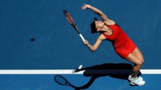 Simona Halep-en-su-debut-en-Melbourne-(Getty)