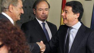 El expresidente del Congreso de los Diputados, Jesús Posada, el presidente del Senado, Pío García Escudero y el expresidente de la Comunidad de Madrid, Ignacio González.