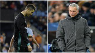 Mourinho y Cristiano pueden volver a encontrarse en Manchester. (AFP)
