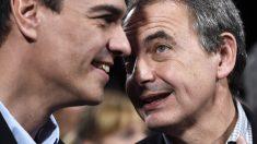 Pedro Sánchez y José Luis Rodríguez Zapatero. (Foto: AFP)