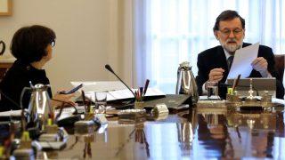 El presidente del Gobierno, en la reunión del Consejo de Ministros.