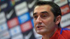 Valverde, durante una rueda de prensa. (AFP)