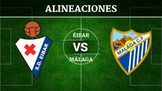 Consulta las posibles alineaciones del Éibar vs Málaga