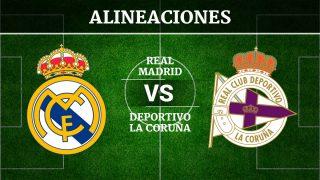 Consulta las posibles alineaciones del Real Madrid vs Deportivo de la Coruña