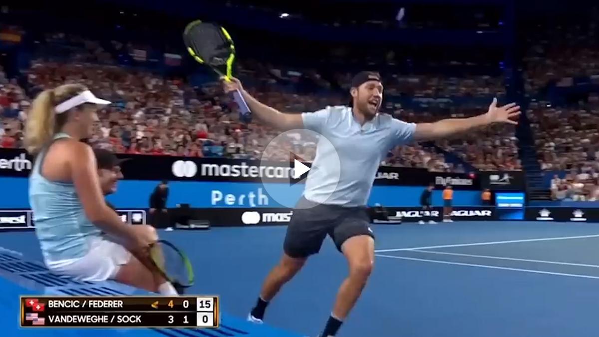Federer se lo pasó en grande con Sock.