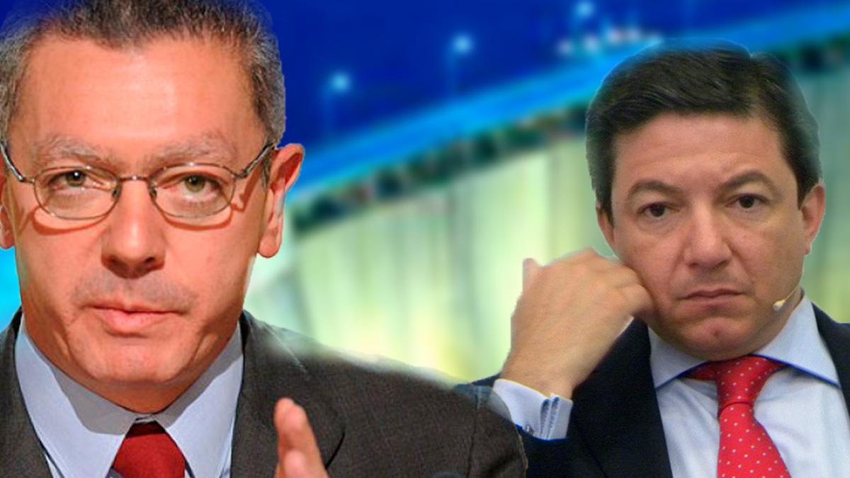 El ex presidente de la Comunidad de Madrid Alberto Ruiz Gallardón y el ex consejero de Medio Ambiente Pedro Calvo Poch.