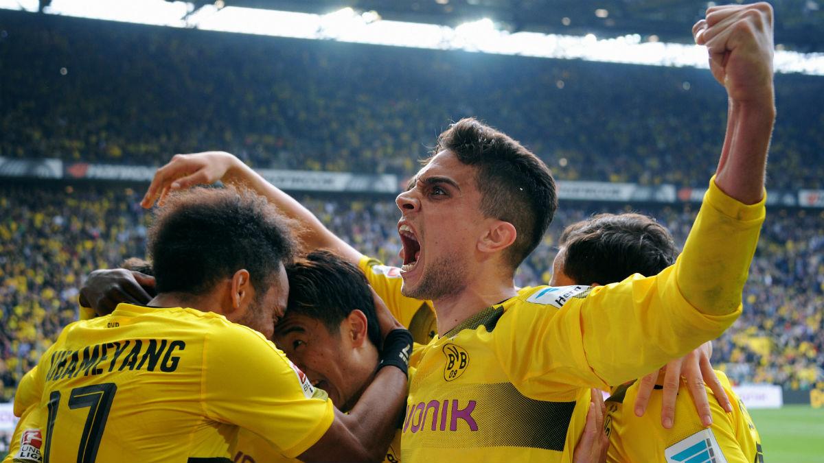 Bartra celebra un gol con el Borussia Dortmund. (Getty)