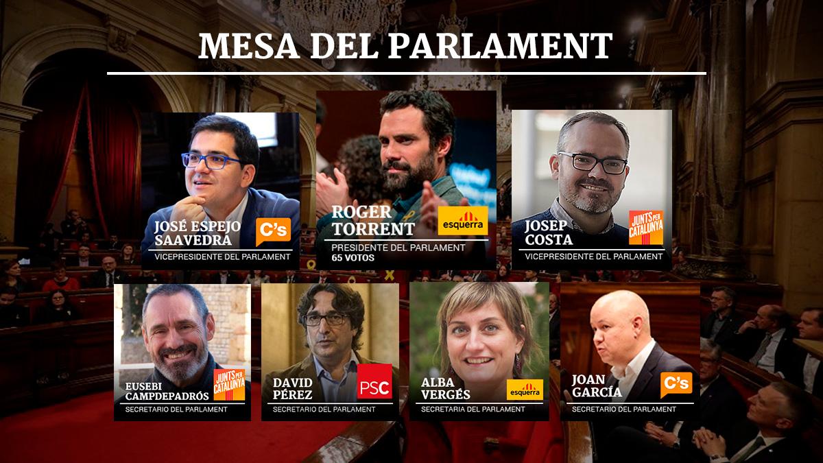 Constituci n parlament catalu a as queda la mesa del for Mesa parlament
