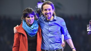 Teresa Rodríguez y Pablo Iglesias. (Foto: Podemos Andalucía)