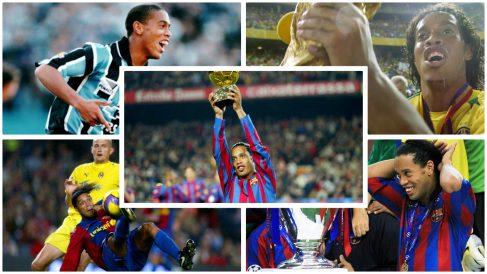 Cinco de los mejores momentos de la carrera de Ronaldinho. (Fotos: Getty Images/AFP)