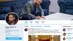 El nuevo perfil de Twitter de Roger Torrent