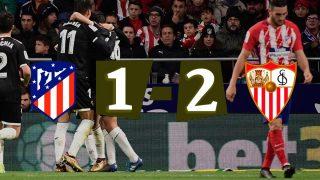 El Atlético cae y tendrá que remontar en el Sánchez Pizjuán.