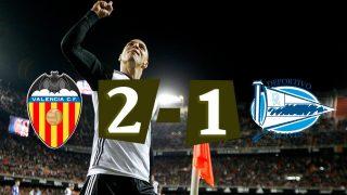 El Valencia remonta y se lleva la victoria en Mestalla.