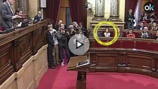 Alamany aplaude efusivamente junto al resto de independentistas el nombre de Junqueras