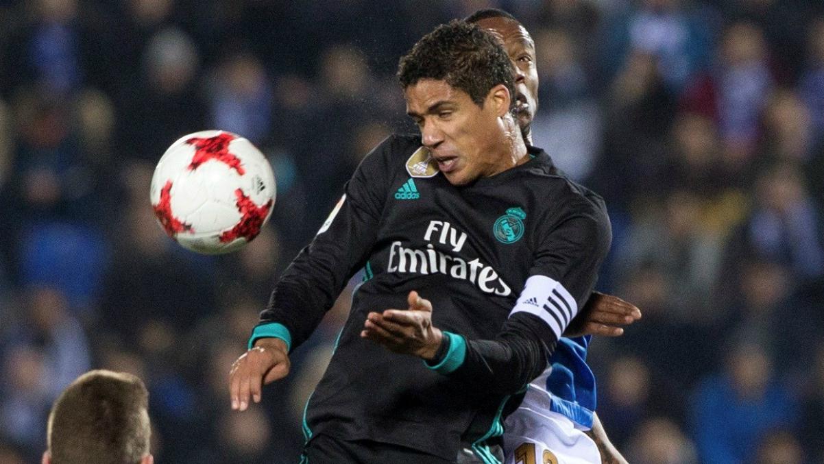 Varane, durante el partido ante el Leganés. (EFE)