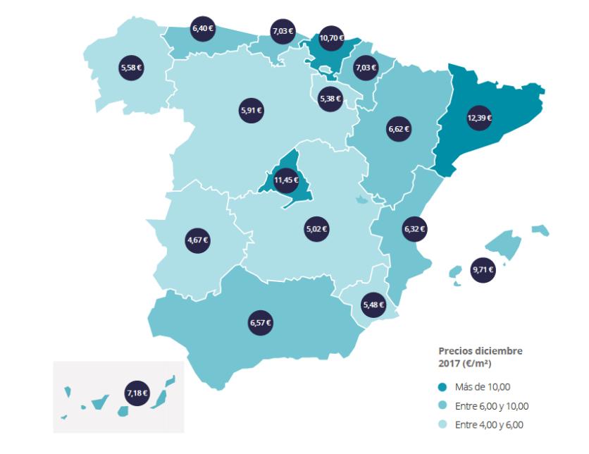 La España más europea y cosmopolita dispara el precio del alquiler en 2017