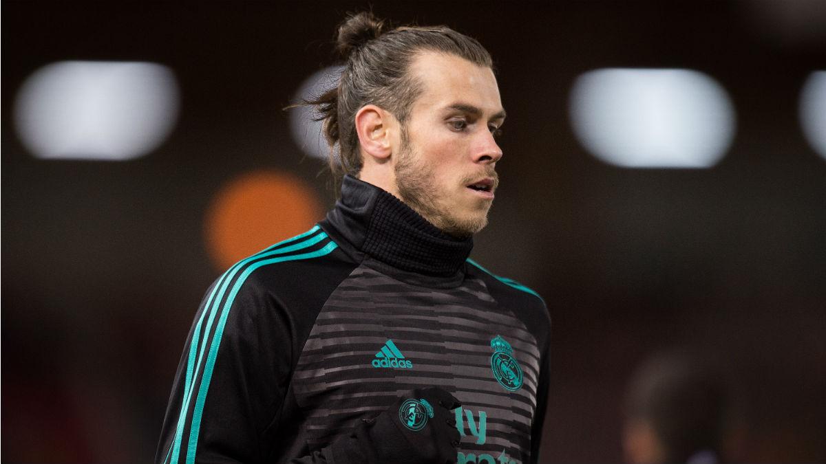 Gareth Bale, durante un calentamiento con el Real Madrid (Getty)