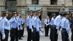 Agentes de la Guardia Urbana en Barcelona