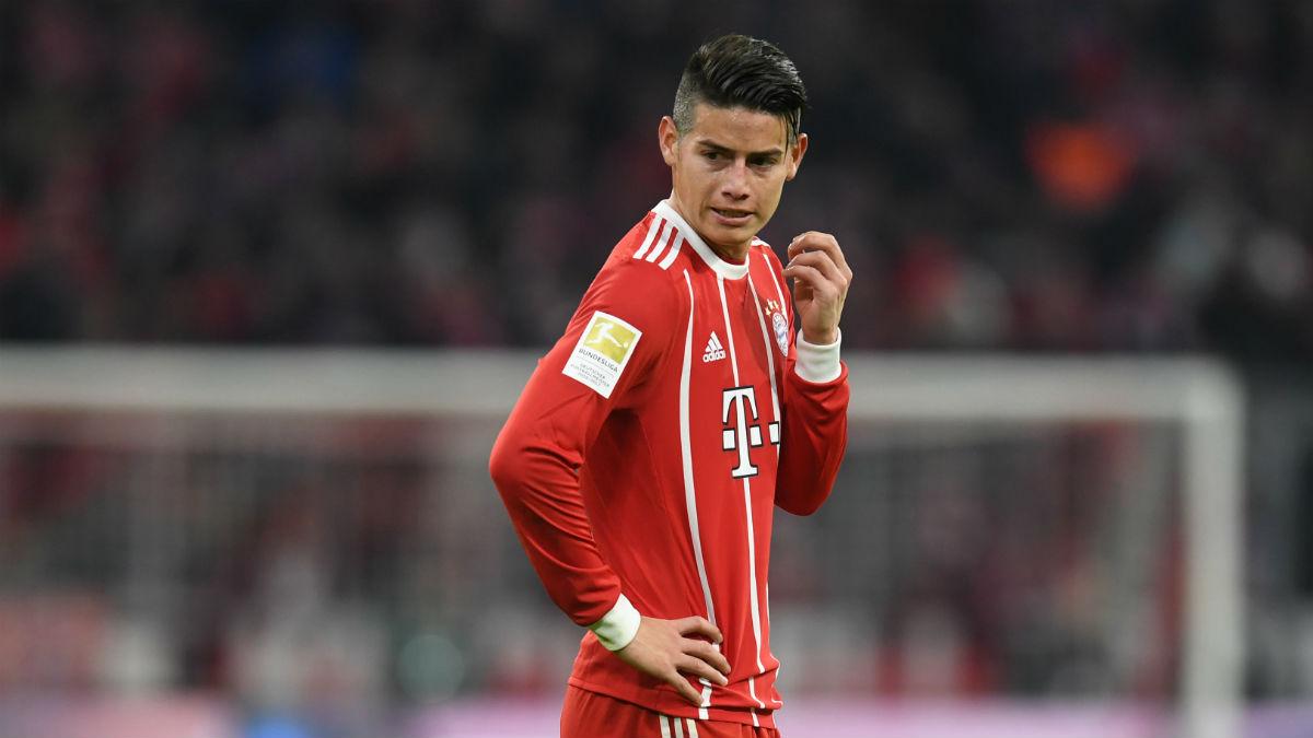 James, durante un partido del Bayern de Munich (AFP).