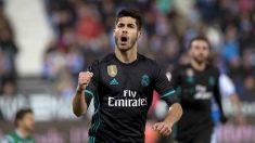 Marco Asensio celebra su gol frente al Leganés. (EFE)