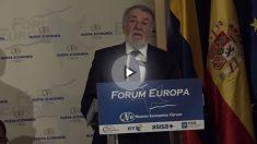 Jaime Mayor Oreja, en el Nueva Economía Fórum, presentando a Iván Duque, candidato del CD a la Presidencia de Colombia. (Vídeo: Juanma Yela)