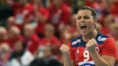 Nora Mork, en un partido de la selección noruega. (AFP)