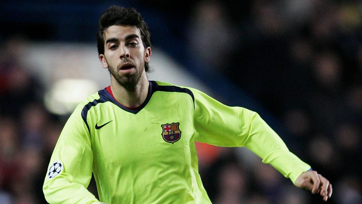 Oleguer Presas, en un partido con el Barcelona. (Getty)