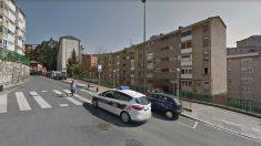 Calle Zizeruena, en el barrio de Otxarkoaga, en Bilbao, donde se produjo el suceso.