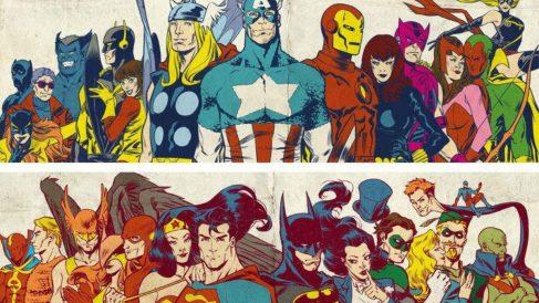 Los superhéroes de Marvel y DC llegaron a fusionarse