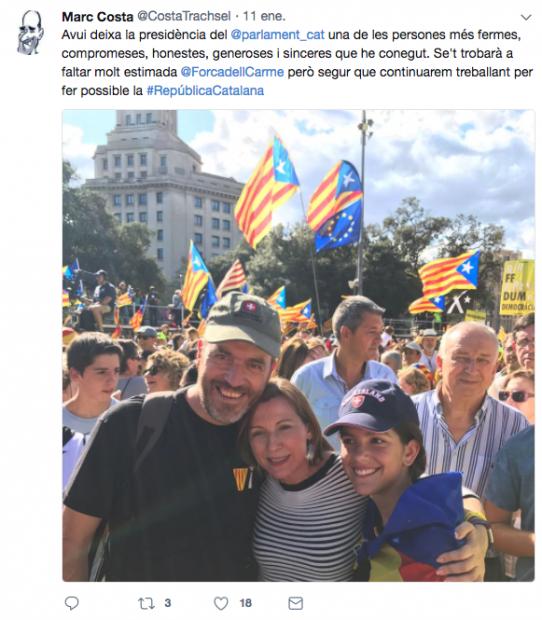 El jefe de la policía armada rural catalana pide resucitar el golpe de Estado y se ríe de Zoido