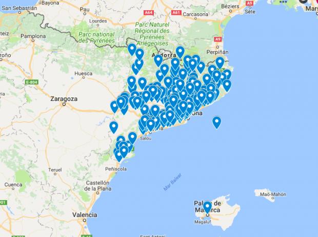 Mapa de los CDR en noviembre