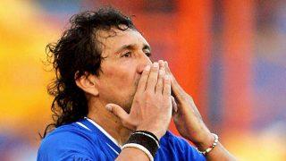 Mágico González, en un partido homenaje a su figura (AFP).