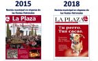 PSOE y Podemos cambian al patrón de S.S. de los Reyes por un perro en la revista municipal