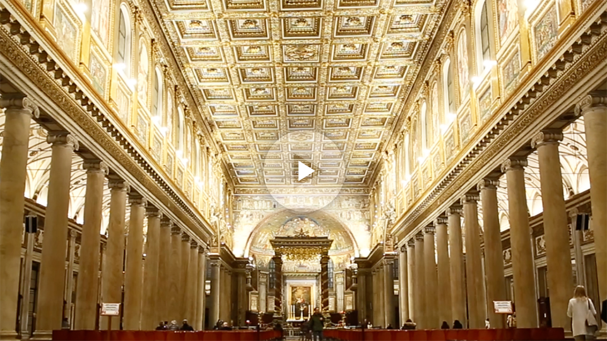 Santa María La Mayor de Roma iluminada por Endesa.