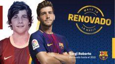 Sergi Roberto renueva con el Barça. (fcbarcelona.cat)