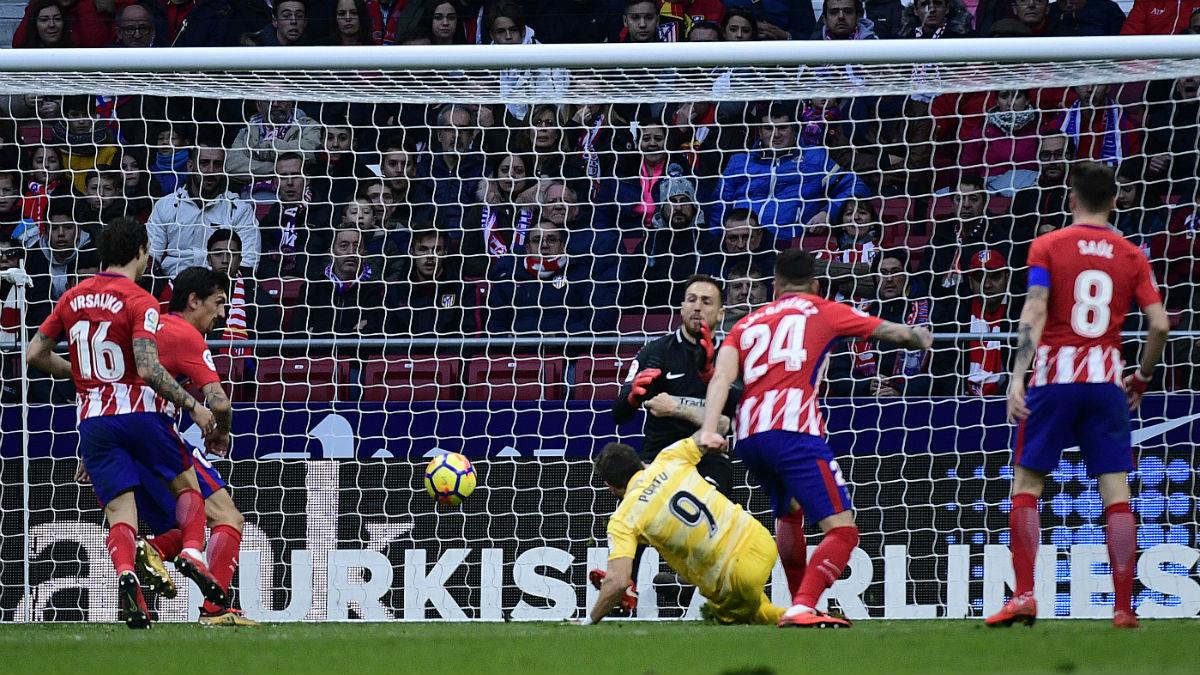 El Atlético se deja dos puntos ante el Girona. (AFP)