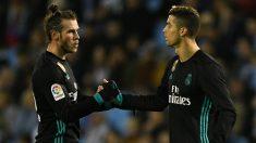Bale y Cristiano se saludan. (Getty)