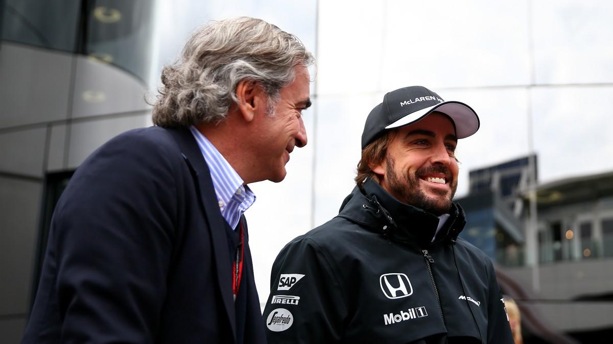 Carlos Sainz y Fernando Alonso, en una imagen de archivo. (Getty)