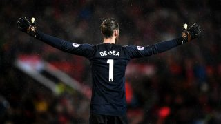 De Gea durante un partido con el United (Getty)